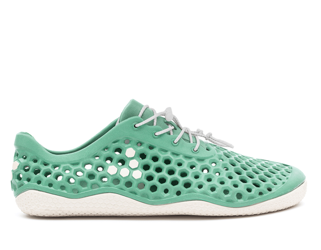 light green water shoe with holes