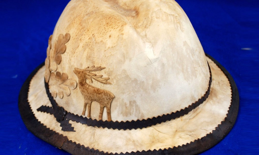 hat made from mushroom leather