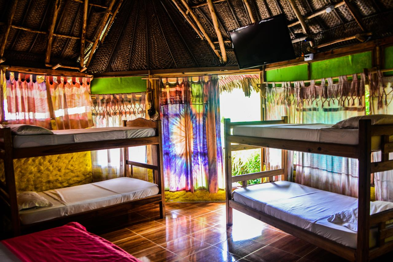 bunkbeds, colourful curtain, wooden interior