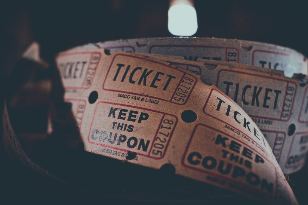 roll of sepia tickets