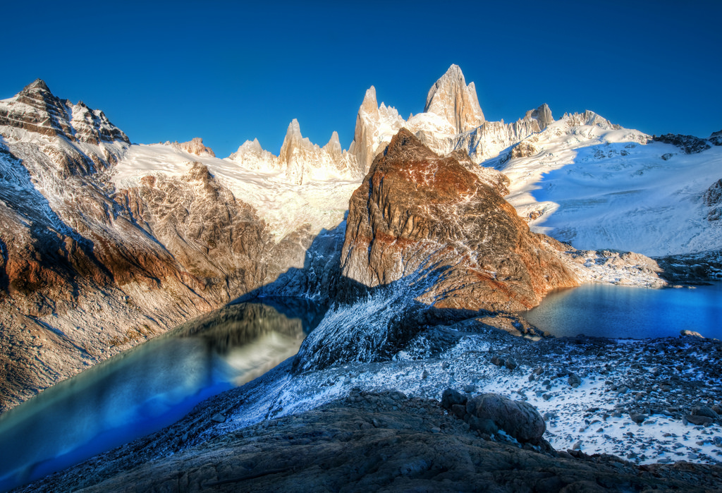The Two Glacial Lakes of the Southern Andes