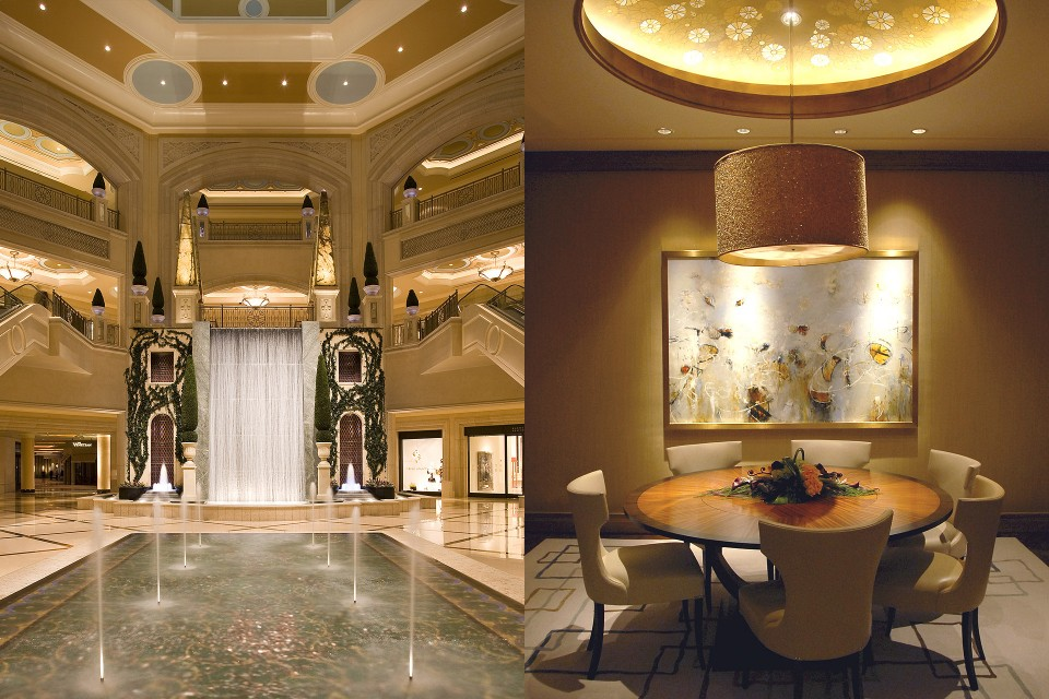 interior of Palazzo luxury hotel tower, Las Vegas, Nevada