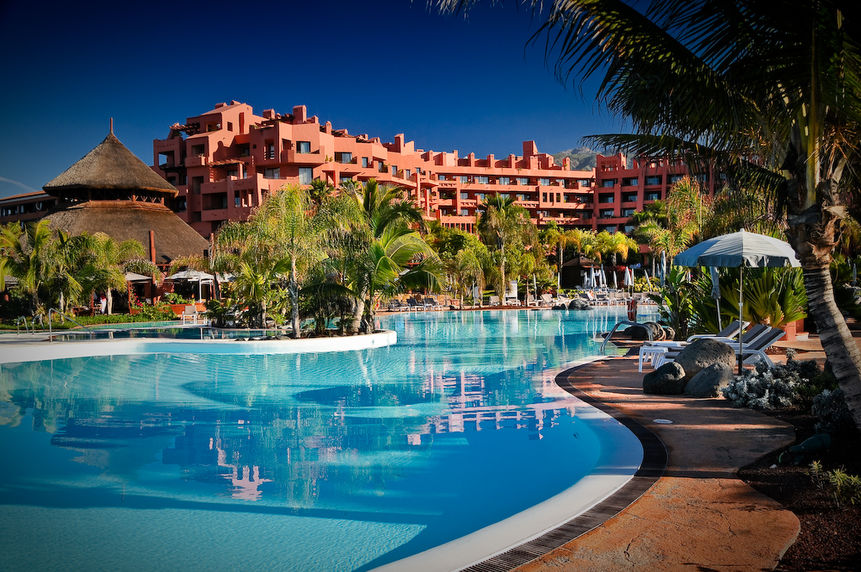blue swimming pool and Sheraton La Caleta Resort & Spa