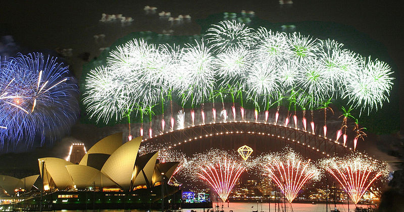 Sydney Harbour Bridge and Opera House, fireworks