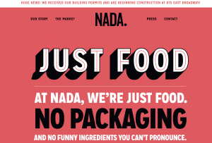 Nada: Just food, no packaging