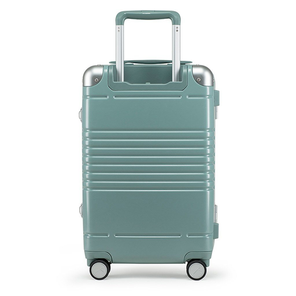 sage metallic carry on suitcase