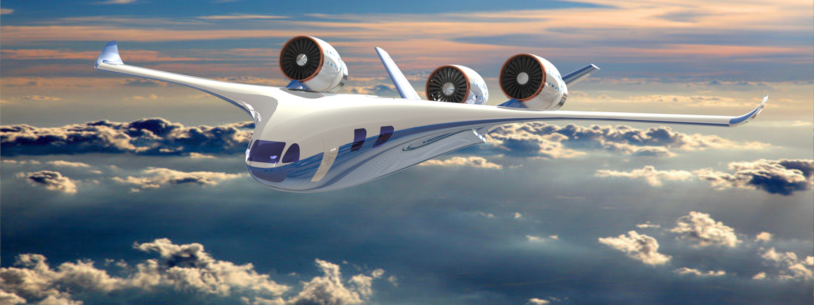 Hybrid-electric plane, artist's rendition