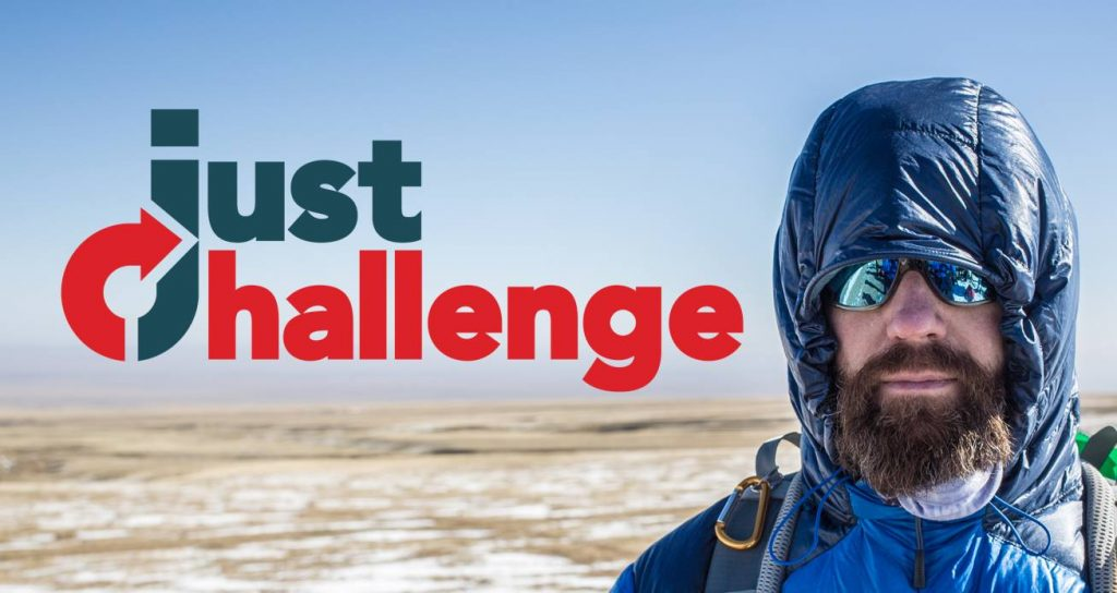Just Challenge logo with man